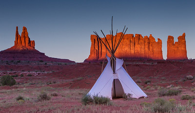 Tee Pee Sunset - Monument Valley